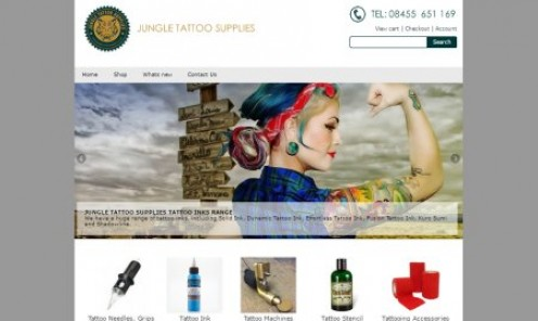 Jungle Tattoo Supplies UK - tattoo inks, cartridges, needles, tubes, grips and accessories.