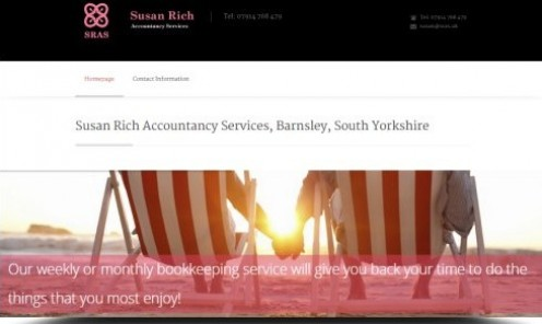 Susan Rich is a female accountant and bookkeeper, serving the whole of South Yorkshire and the Peak District.
