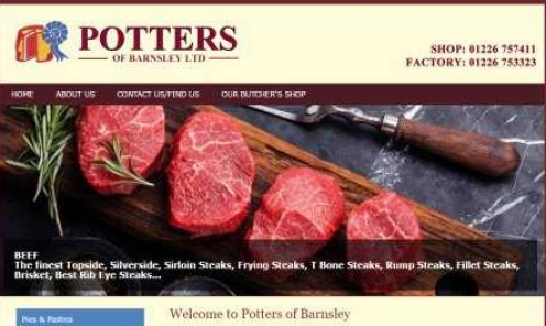 Potters of Barnsley, wholesale butchers based in Wombwell, South Yorkshire.