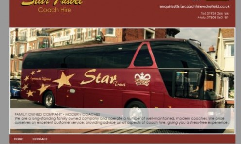 Contact Star Travel for coach hire in Wakefield, West Yorkshire