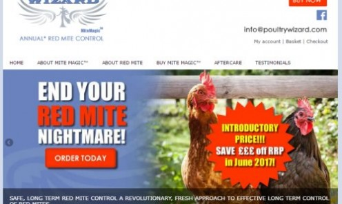Mite Magic is the revolutionary new treatment for Red Mite in chickens, hens and pigeons