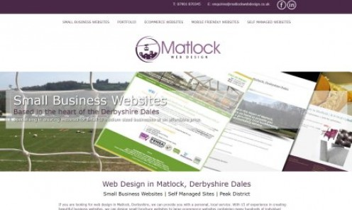 Web Design in Matlock, North Derbyshire, the Peak District and Chesterfield